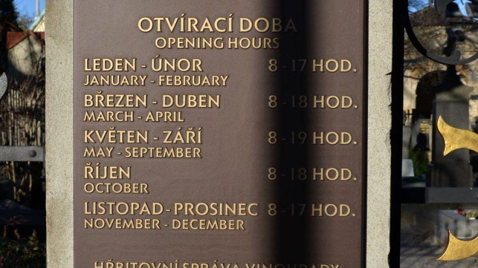 Možnost vstoupit na Vyšehradský hřbitov je časově omezená