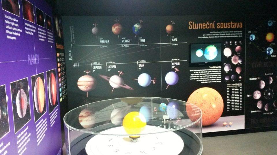 Jedna z expozic Planetária Ostrava