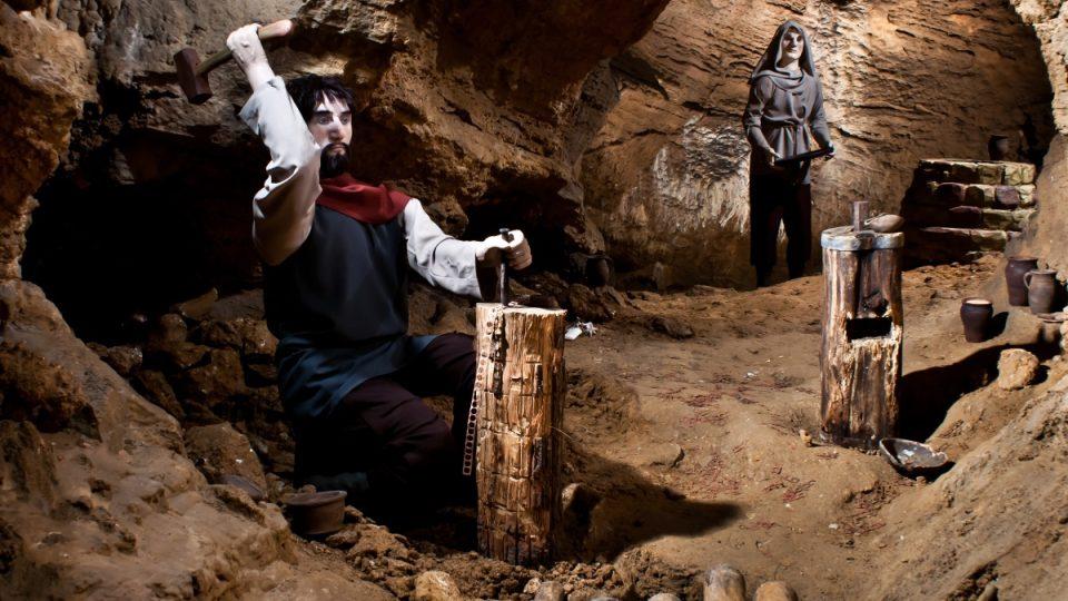 Koněpruské jeskyně - penězokazecká dílna