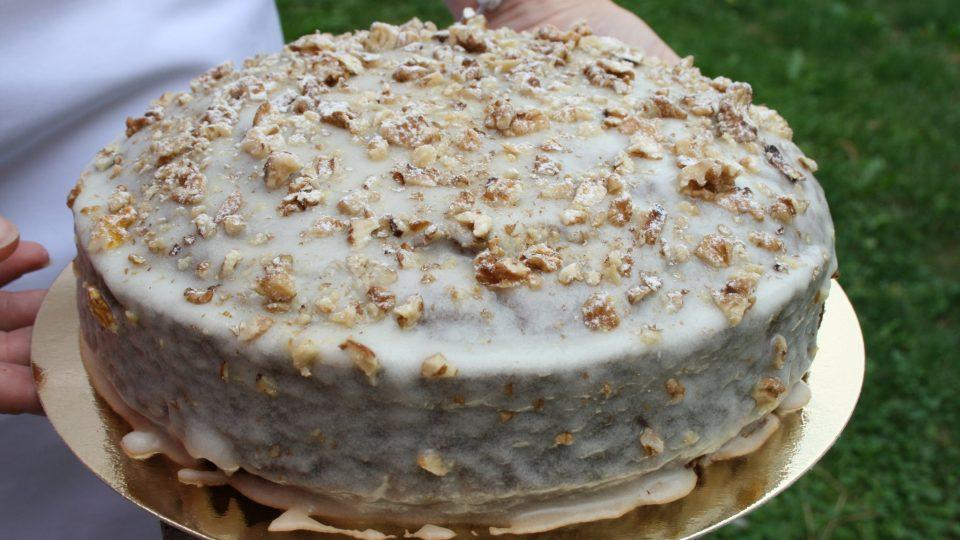 Vánoční dort s citronovou polevou od Hany Šemíkové