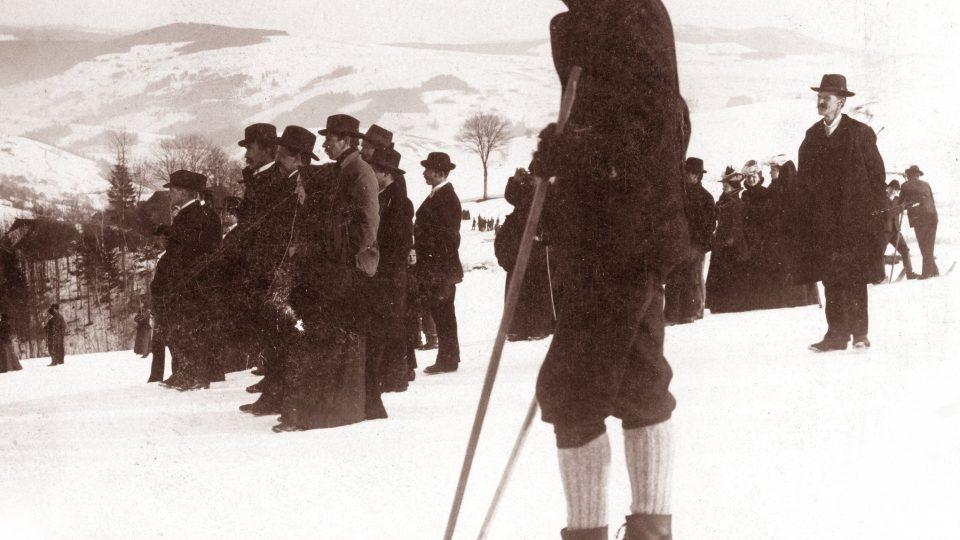 Lyžování v Krkonoších, počátek 20. století