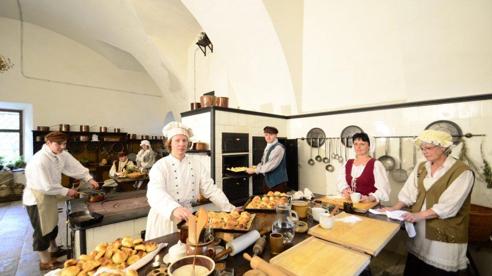 Zámecká kuchyň na zámku ve Žlebech