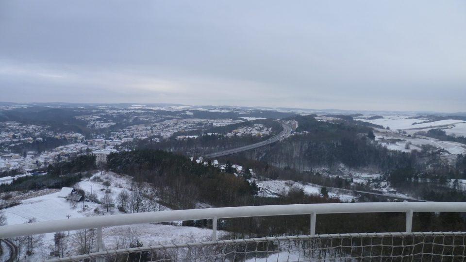 Dálnice D1 ve směru na Jihlavu