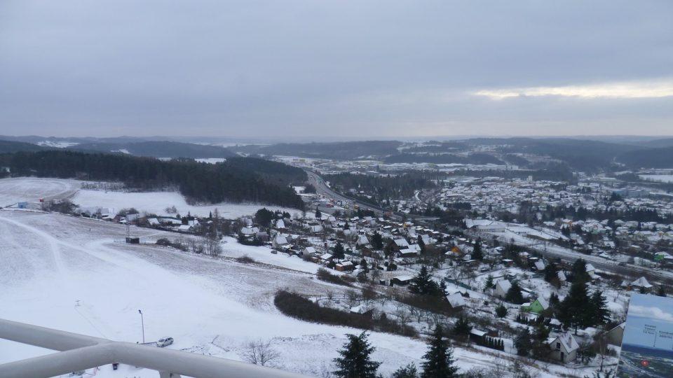 Pohled na dálnici D1 ve směru na Brno