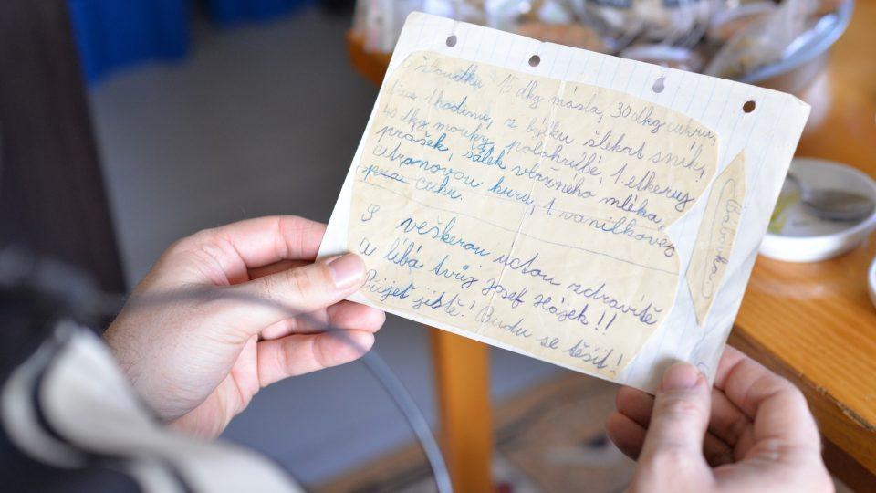 Josef Hájek si už v dětství psal recepty. A některé se i dochovaly