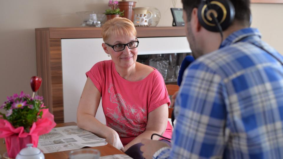 Lenka Glogarová v rozhovoru s Patrikem Rozehnalem