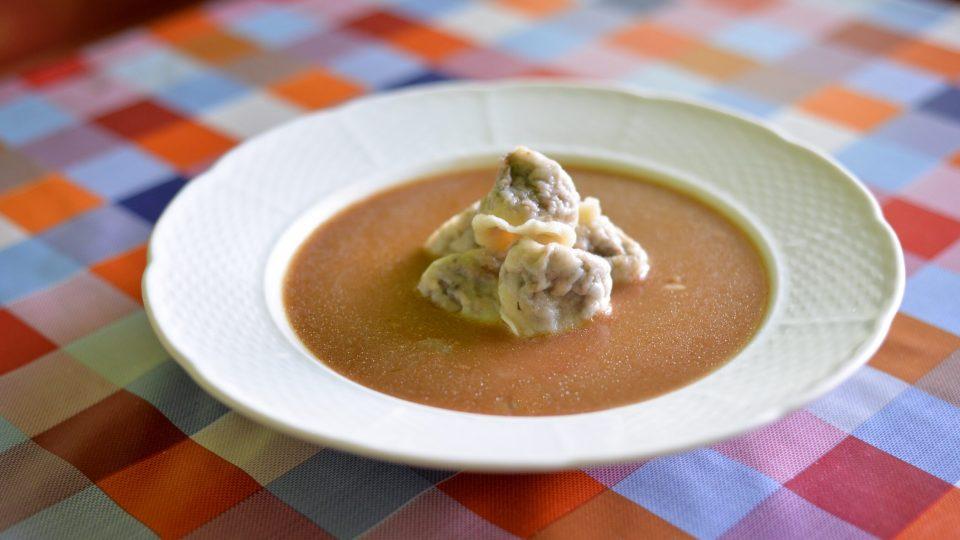 Houbová ouška s polévkou Marie Křížkové