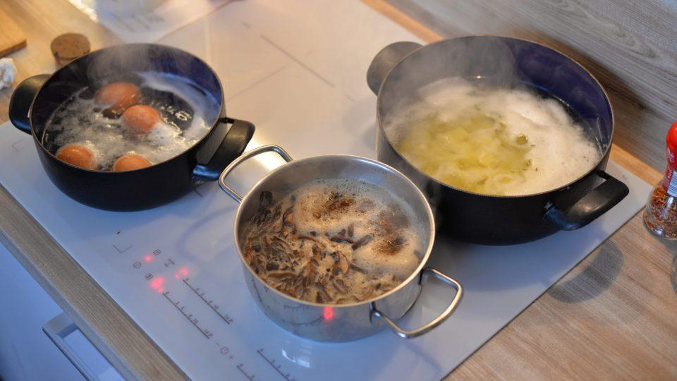 Hlavně dodržovat správnou dobu vaření pro všechny ingredience