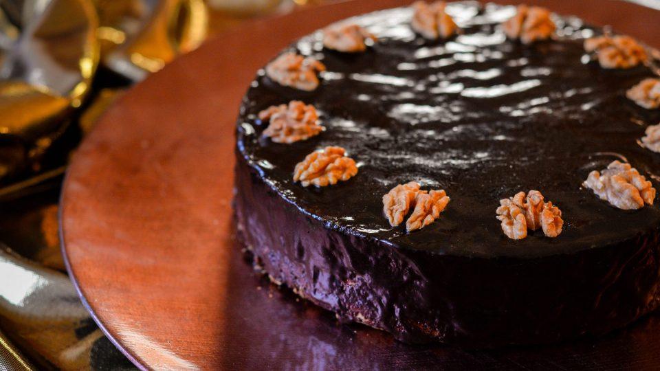 Ořechový dort Hany Koudelkové