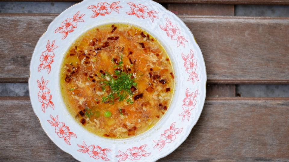 Zeleninová polévka s vejcem od Jaroslava Petlacha