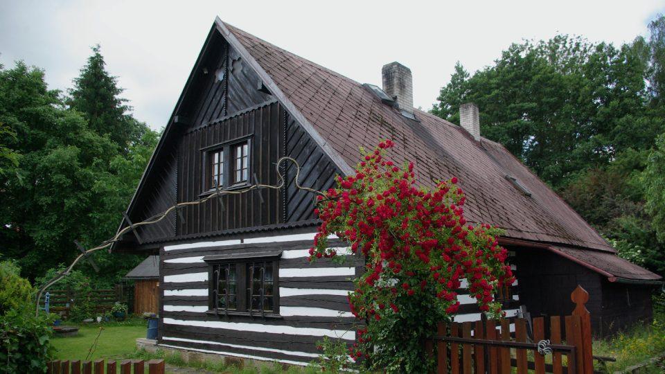 Chalupa ve Vesci v Českém ráji, ve vesnické památkové rezervaci