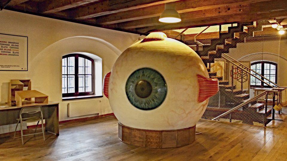 Model oka v olomoucké Pevnosti poznání