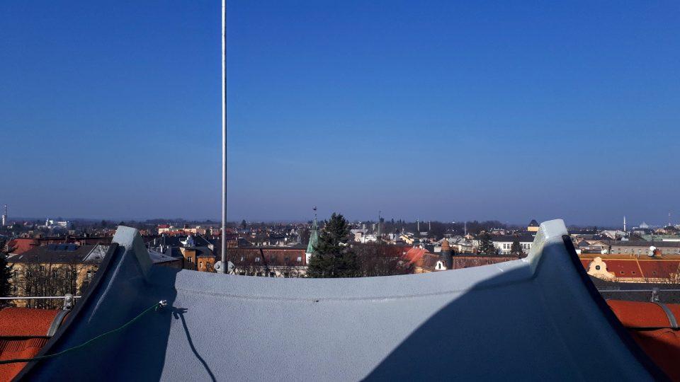 Výhled na Opavu za denního světla z kopule observatoře rozhodně stojí za to