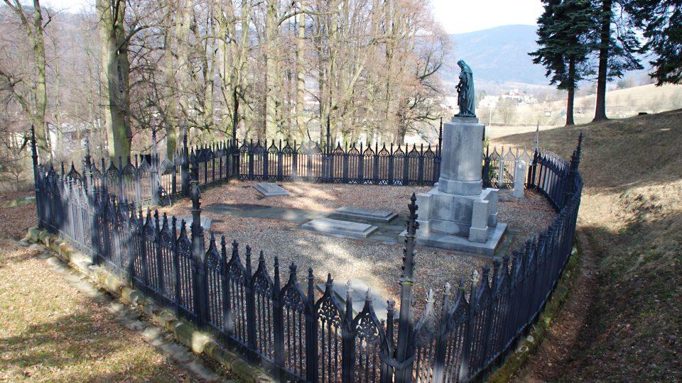 Pohled z břehu nad hrobkou