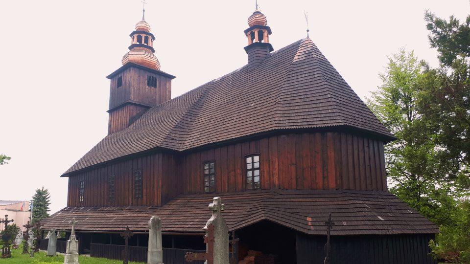Dřevěný kostel Všech svatých v Sedlištích