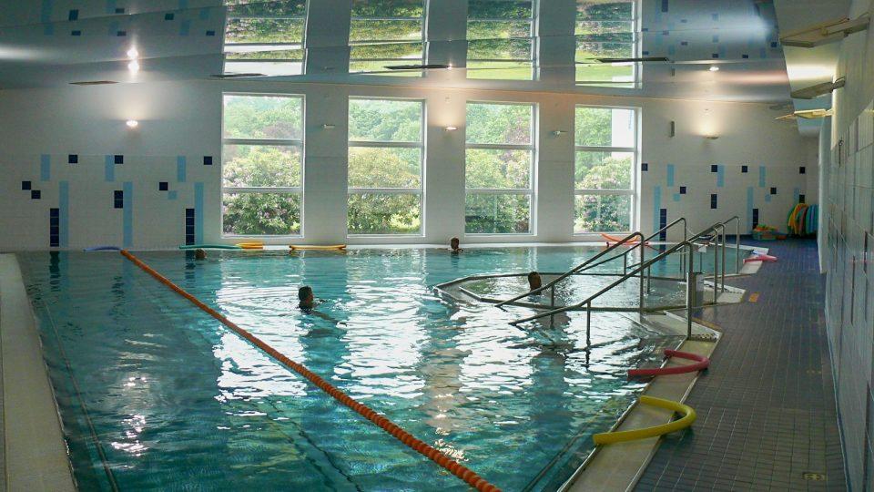 Plavecký bazén v Lázních Bechyně